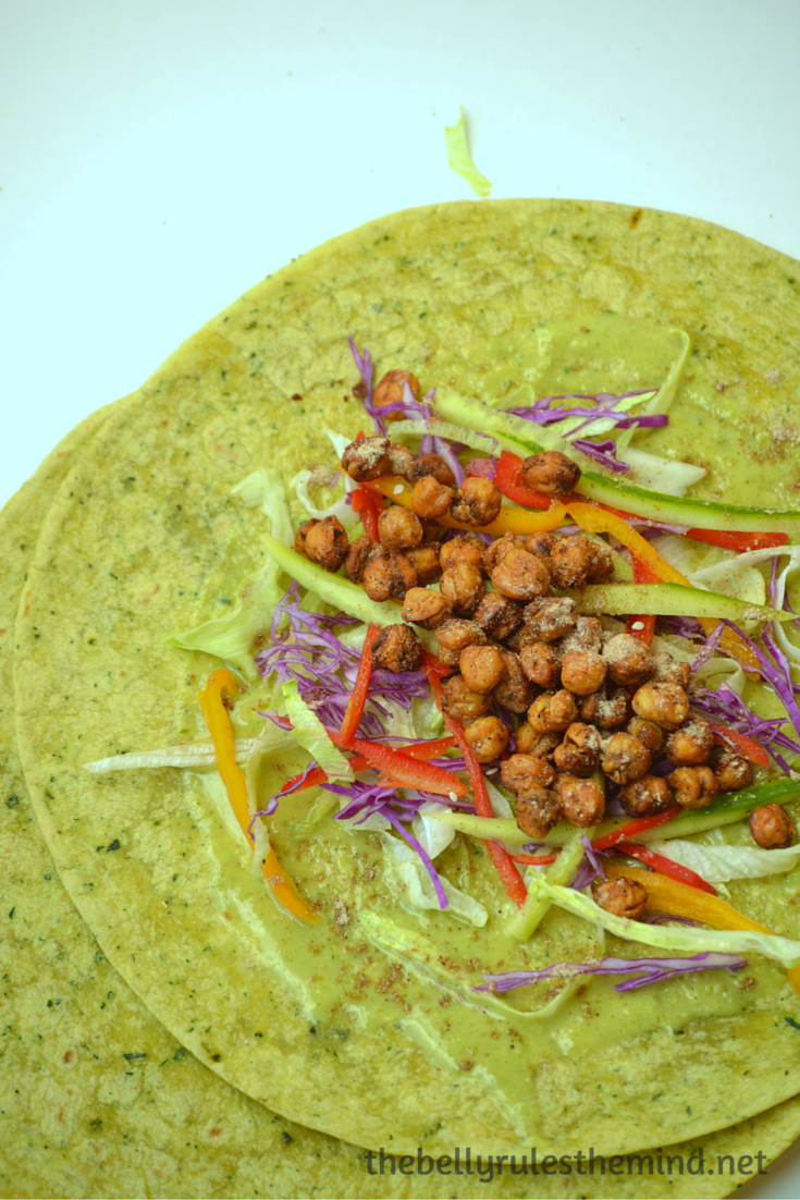 Chickpea spinach wrap