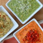 Homemade Hummus Trio