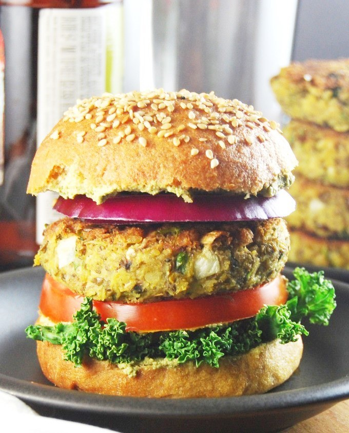 Sprouted Mung Bean Burgers
