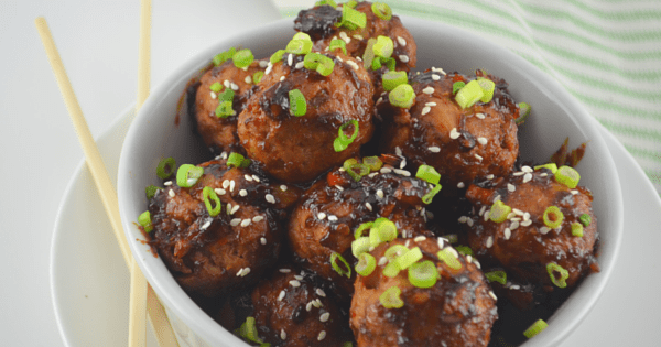 No Fry Teriyaki Chicken Meatballs