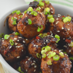 No Fry Teriyaki Chicken Meatballs