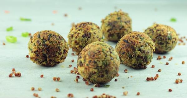 No Fry Chickpea Quinoa Balls