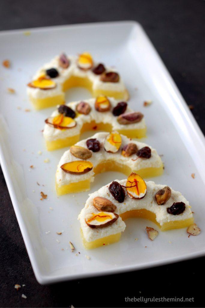 Healthy Pineapple Sandesh Mithai