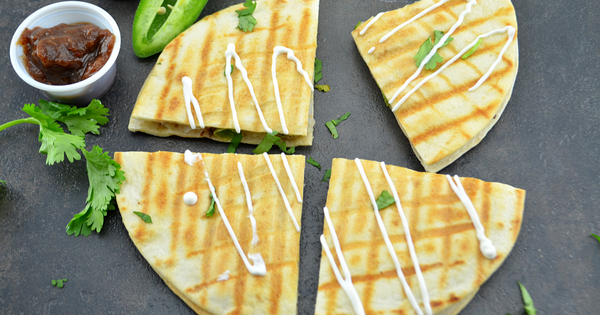 Spicy Samosa Quesadilla