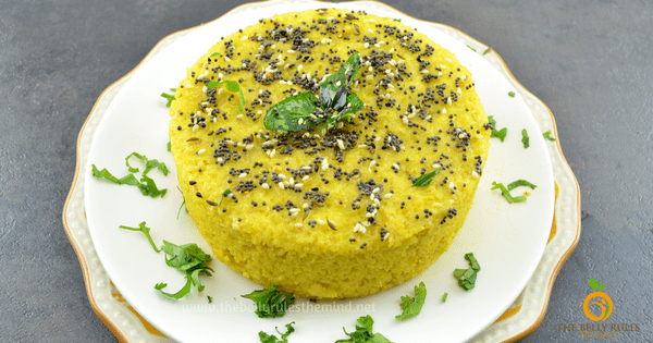 Daliya Dhokla ( Broken Wheat Steamed Savory Cake)