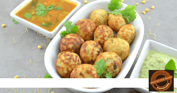 Quinoa & Lentil  Vada / Fritters in Appe Pan