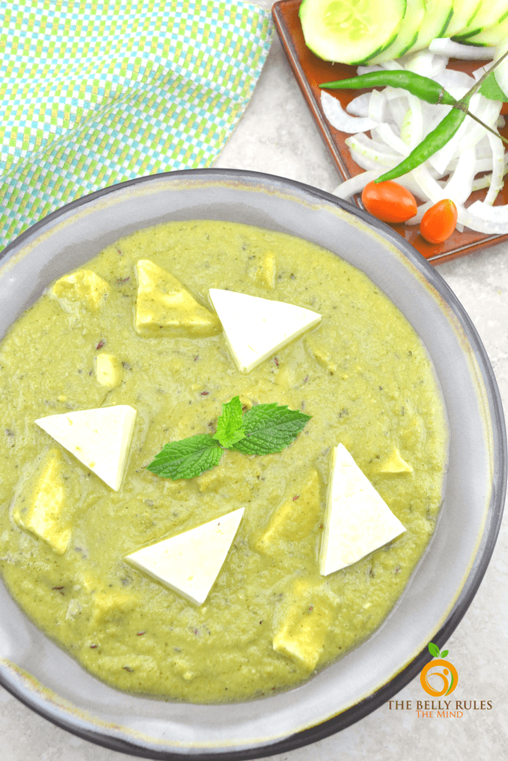 Minty Paneer Sabzi in 10 mintues