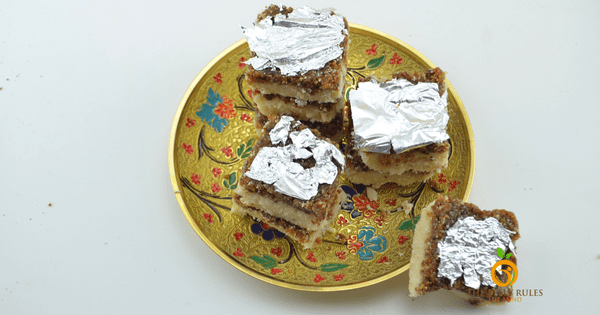 Walnut & Coconut Fudge Bars/ Barfi  ( GF+V)