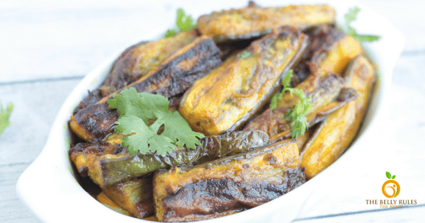 Non Tradition Baingan Bhaja Sticks / Spiced Eggplant Sticks