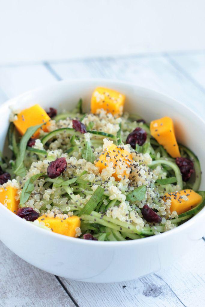 Quinoa Mango Cucumber Salad