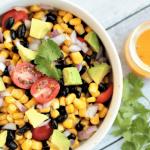 Black Bean Corn Salad with Pichuberry Vinaigrette (V+GF)