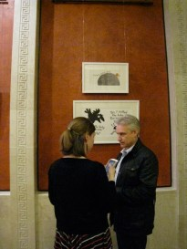 Elena and Andrew Witson in front of Mary Murphy's pics
