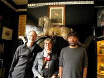Michael, Ann and Eddie in front of the most beautiful rocking horse