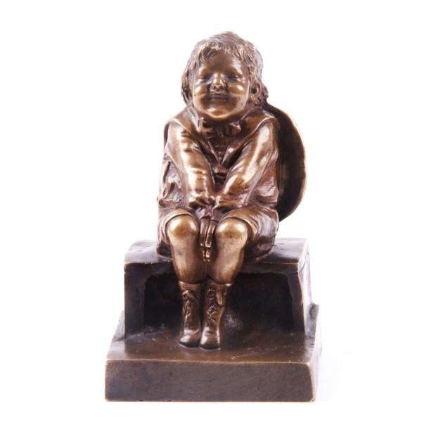 """Devant Le Guignol"" Bronze Sculpture by Juan Clara"