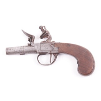 English Flintlock Boxlock Pistol