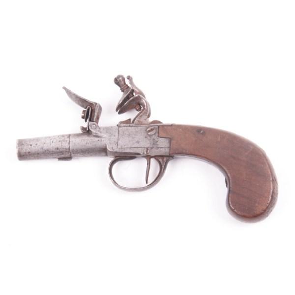 English Flintlock Boxlock Pistol