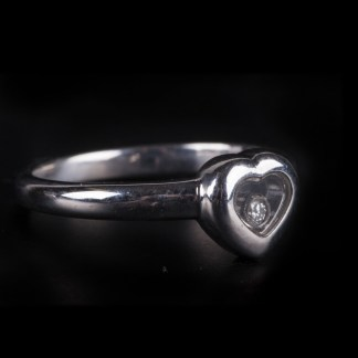 Chopard Miss Happy Diamond Ring 18k White Gold