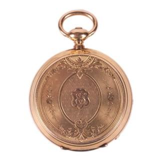 18K Gold Open Face Pocket Watch