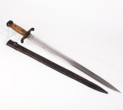 Japanese wood handled Artillery Sword.