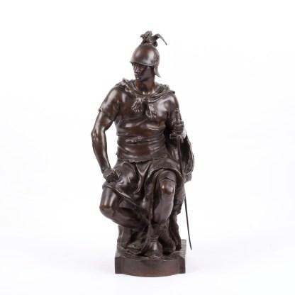 "Bronze sculpture ""Le courage militaire by French sculptor Paul Dubois"
