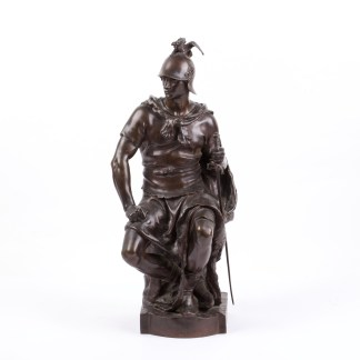 "Bronze sculpture ""Le courage militaire by French sculptor Paul Dubois"