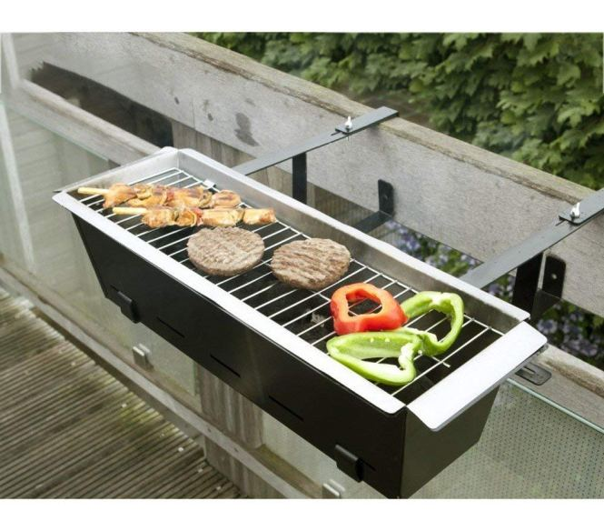 A Barbecue Designed To Fit The Railing Of Your Balcony