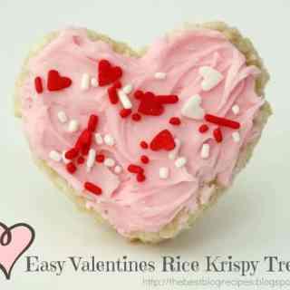 Easy Valentines Rice Krispy Treats
