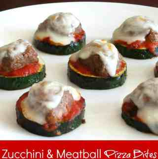 Healthy Zucchini and Meatball Pizza Bites