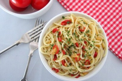 Garlic & Chilli Spaghetti