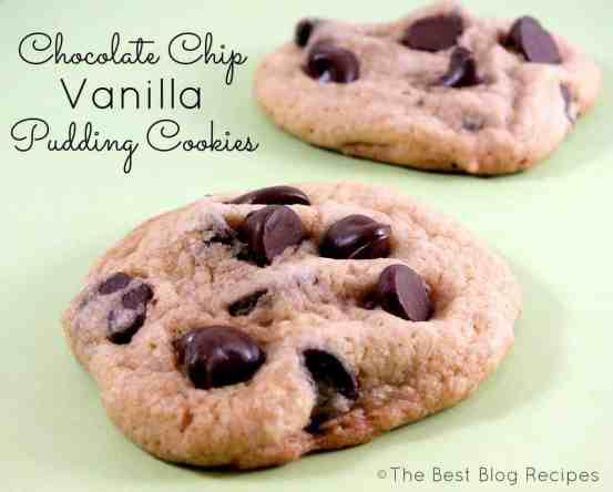 Chocolate Chip Vanilla Pudding Cookies recipe from The Best Blog Recipes