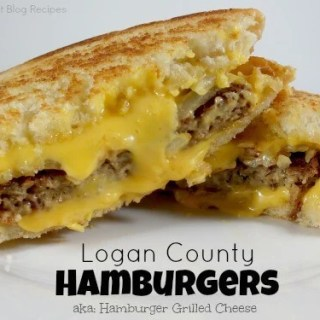 Logan County Hamburgers (aka: Hamburger Grilled Cheese)
