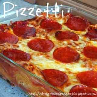 Pizzetti [Pizza Spaghetti Casserole]