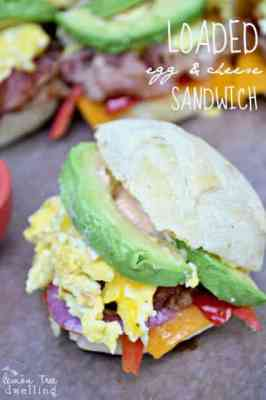 Loaded Egg  & Cheese Sandwiches 1