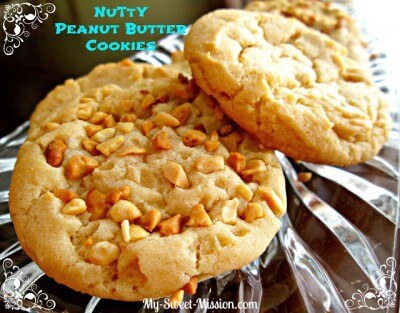 Nutty Peanut Butter Cookies