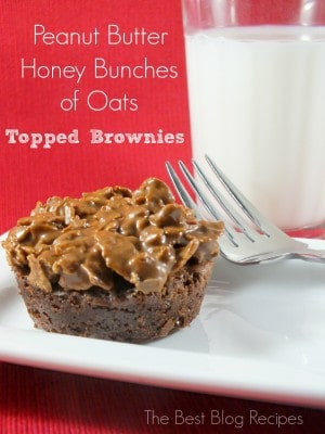Peanut Butter Crunchy Brownies | The Best Blog Recipes