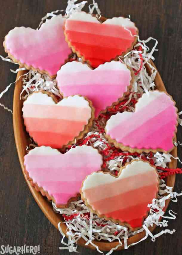 Brown Butter Heart Cookies -- Part of the Best Valentine's Day Cookies