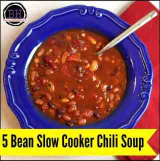 5 Bean Slow Cooker Chili Soup