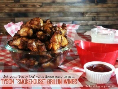 "Get your ""Party On"" with these easy to cook Tyson Smokehouse Grillin Wings & Homemade Ranch Dip 