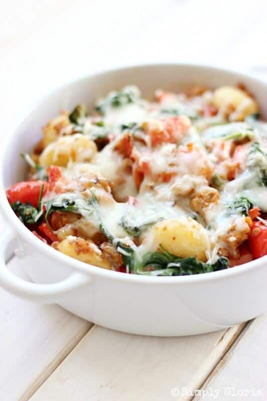 Italian Sausage Gnocchi Bake  | The Best Blog Recipes Casserole Recipe Round Up