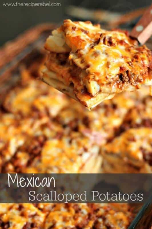 Mexican Scalloped Potatoes | The Best Blog Recipes Casserole Recipe Round Up