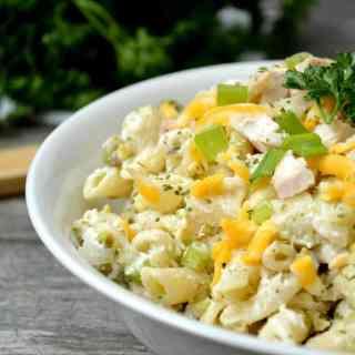 Rotisserie Chicken Ranch Pasta Salad
