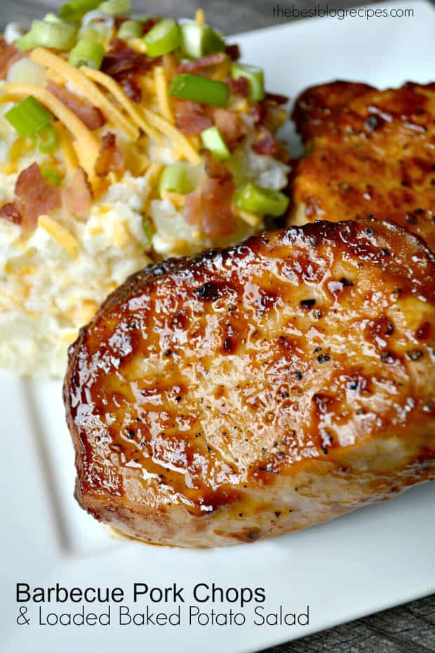 Pan Seared Oven Roasted Barbecue Pork Chops | thebestblogrecipes.com