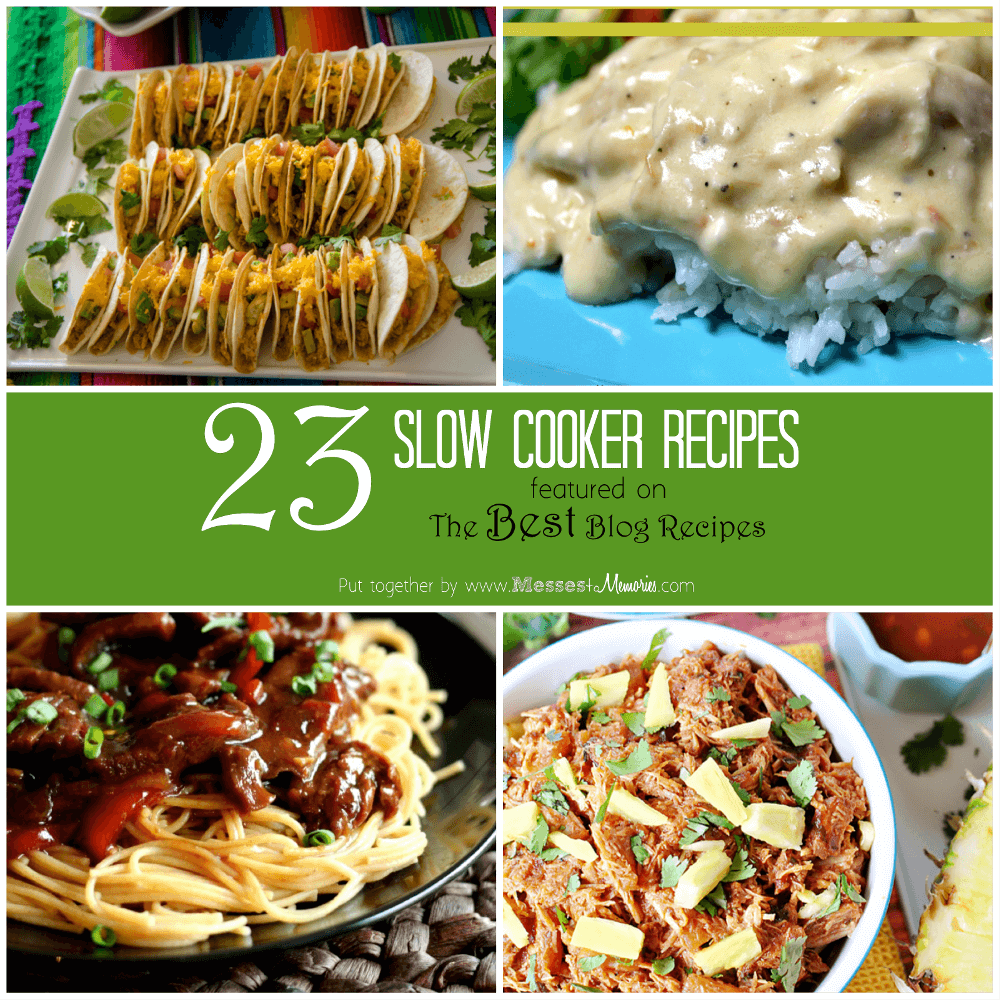 23 Slow Cooker Recipes featured on The Best Blog Recipes