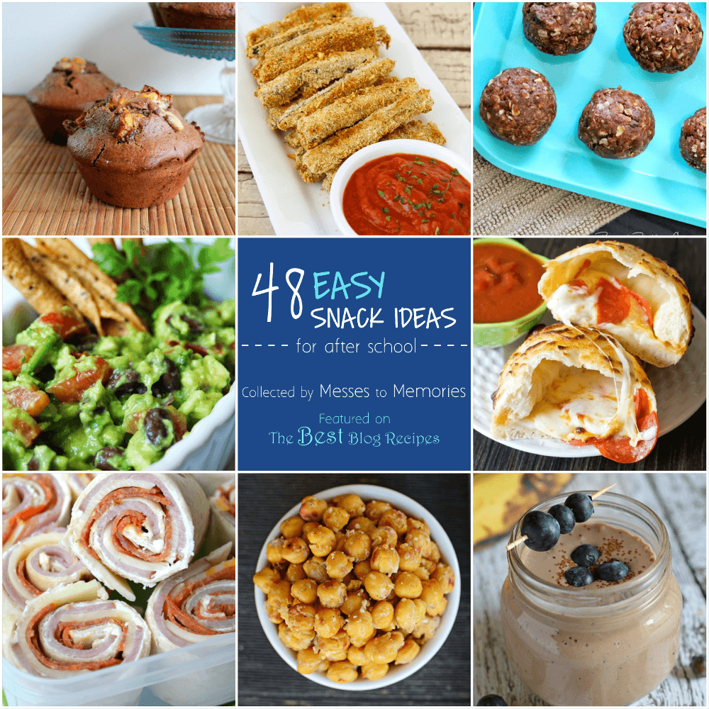 48 quick and easy snack ideas great for kids after school featured on The Best Blog Recipes