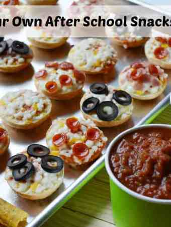 Create Your Own After School Snacks Pizza Bar