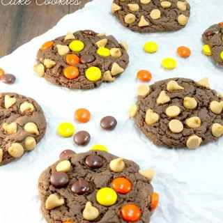 Reese's Pieces Peanut Butter Chip Cake Mix Cookies
