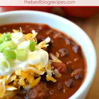 Slow Cooker Chili w/ a Kick!