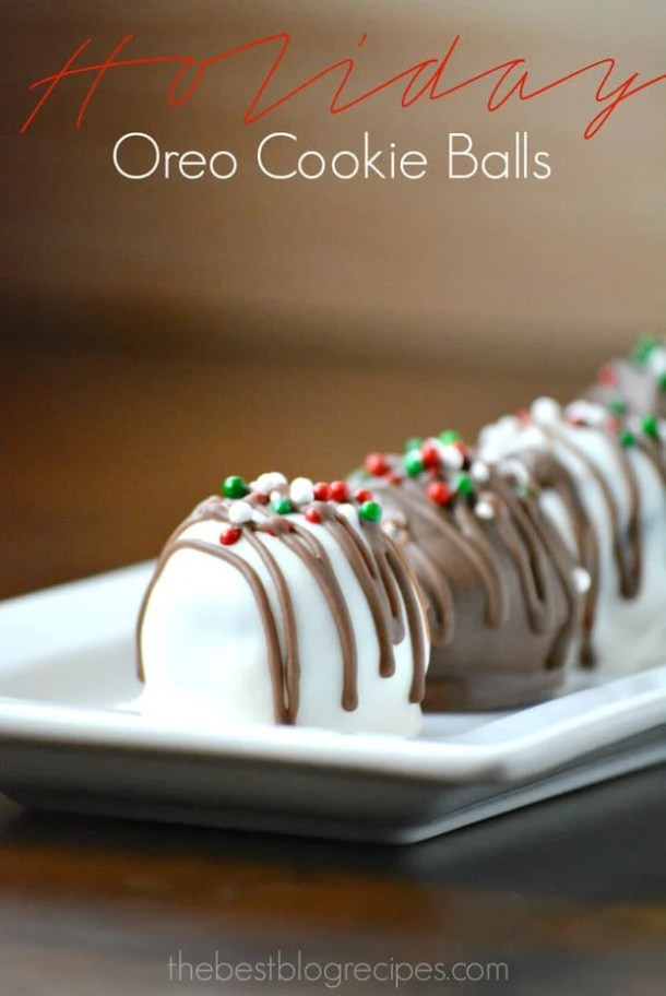 Holiday Oreo Cookie Balls -- Part of Fun and Festive Christmas Desserts