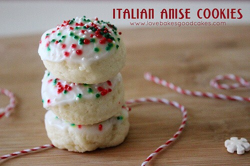 Italian Anise Cookies featured on 26 Christmas Recipes from The Best Blog Recipes