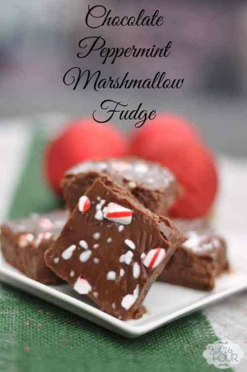 Peppermint Marshmallow Fudge featured in 18 Peppermint Desserts on The Best Blog Recipes